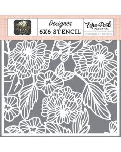 Floral Bouquet Stencil - Wedding Day - Jen Allyson - Echo Park