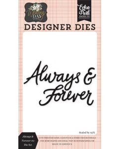 Always & Forever #2 Die Set - Wedding Day - Jen Allyson - Echo Park - Clearance