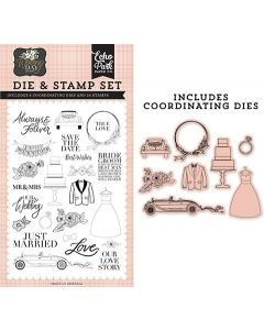 Our Love Story Die & Stamp Set - Wedding Day - Jen Allyson - Echo Park - Clearance