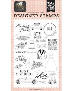 Our Love Story Stamp Set - Wedding Day - Jen Allyson - Echo Park