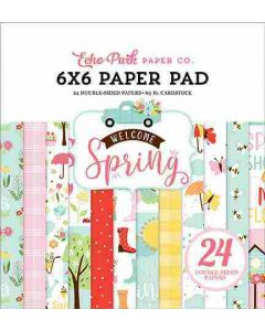 """Welcome Spring 6"""" x 6"""" Paper Pad - Echo Park"""