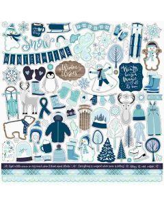 Winter Magic Element Stickers - Echo Park