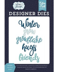 Snowflake Hugs Word Dies - Winter Magic - Echo Park