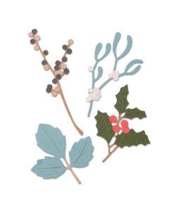 Winter Leaves Thinlits Die Set - Sophie Guilar - Sizzix