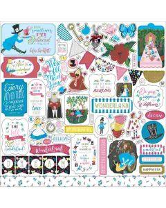 Alice in Wonderland no. 2 Element Stickers - Echo Park