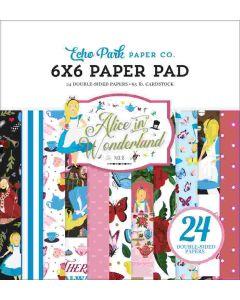 "Alice in Wonderland no. 2 6"" x 6"" Paper Pad - Echo Park"