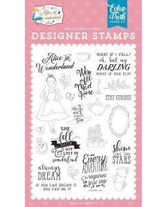 Always Dream Stamp Set - Alice in Wonderland no. 2 - Echo Park