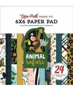 """Animal Safari 6"""" x 6"""" Paper Pad"""