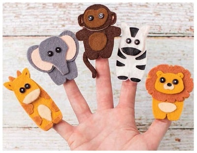 finger puppets made with the Cricut Maker