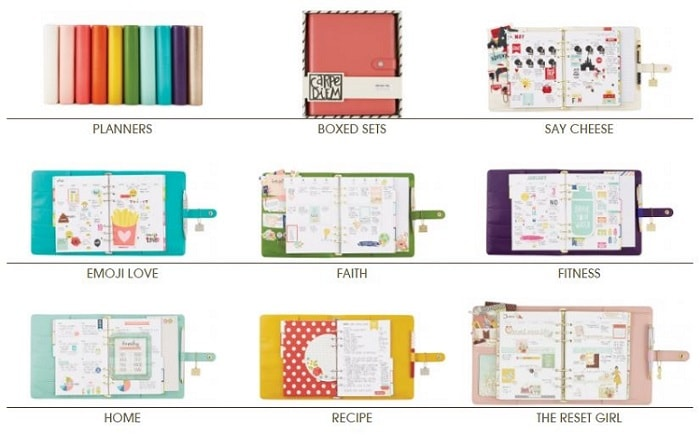 products from the simple stories carpe diem planner collection