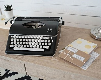 typecast typewriter on display in a study