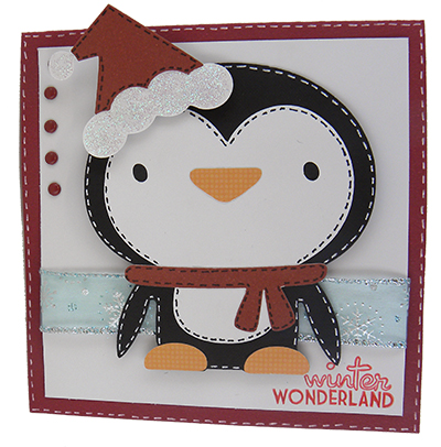 Create a Critter 2 Project winter wonderland penguin card