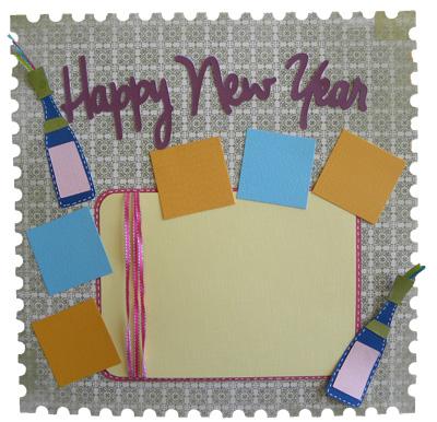 happy new year cricut card