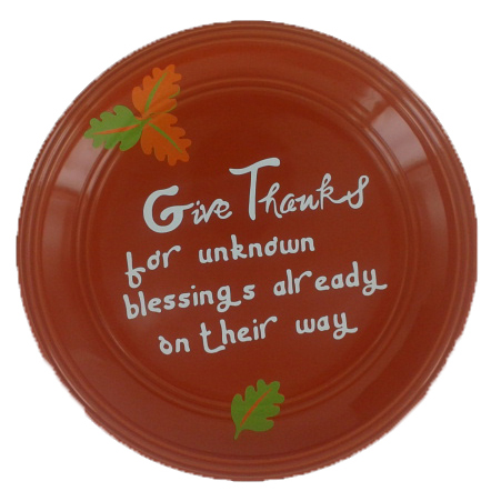 Cricut Vinyl Projects plate for thanksgiving