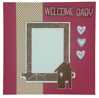 welcome baby card cricut layout