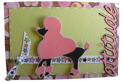 Dog card made with cricut suburbia cartridge