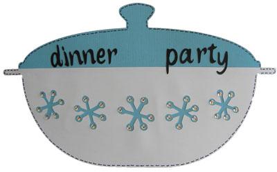 dinner party cricut card invitation