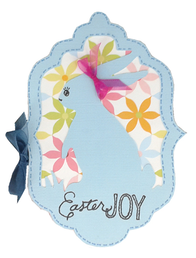 ester bunny card made with martha stewart cricut