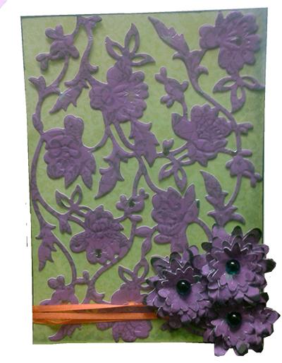 flower shoppe card from cricut