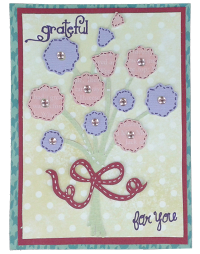 flower bouquet card by martha stewart seasonal cake cricut cartridge