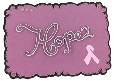 hope card made with pink journey cartridge