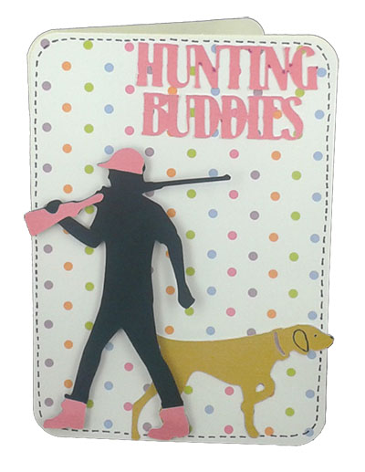 hunting buddies card made with outdoor man cartridge