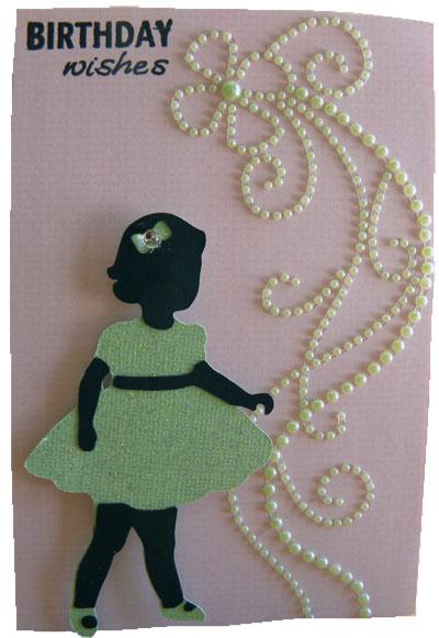 little girl birthday card by suburbia cricut cartridge