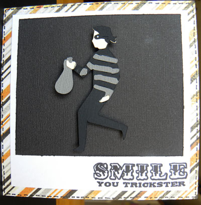 smile you trickster halloween card