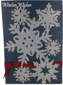 snowflake card - anna griffin christmas cards