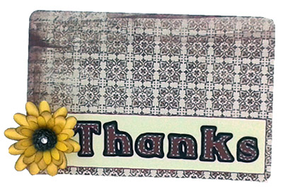 thank you card cricut flower shoppe