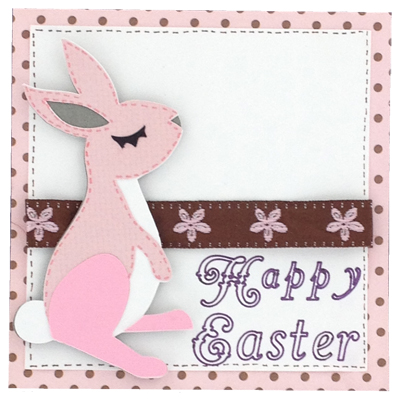 happy Easter card made with Cricut
