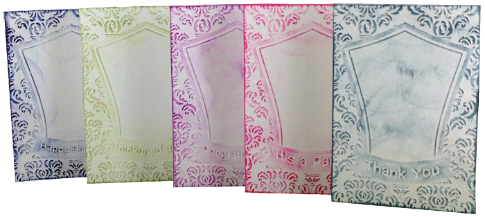 5 piece embossing cards