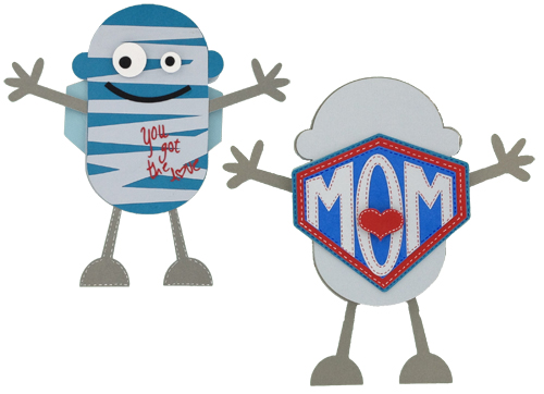 super mummy card made with the Mini Monsters cartridge