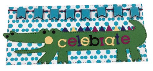 Celebrate Aligator Card