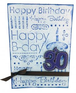 CGull Happy Birthday Embossed Card