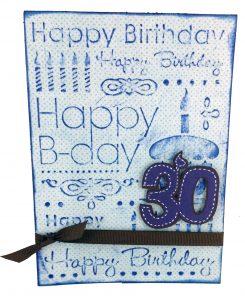 CGull Happy Birthday Embossed Card