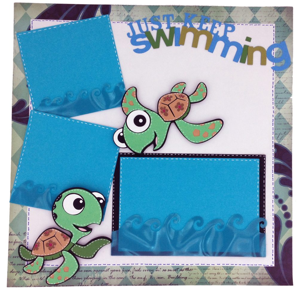 Pixar Cricut Cartridge Scrapbook Layout