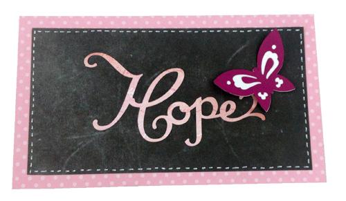 Pink Journey Cricut Cartridge Card