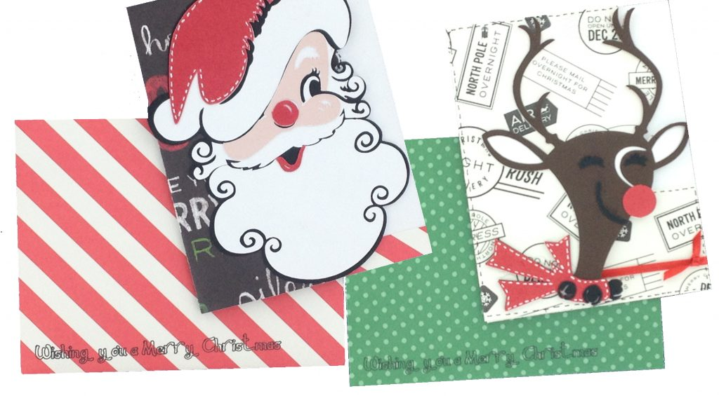 Christmas Kitsch Cricut Cards