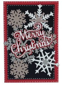 card made with Anna Griffin cartridges: winter wonderland and christmas kitsch