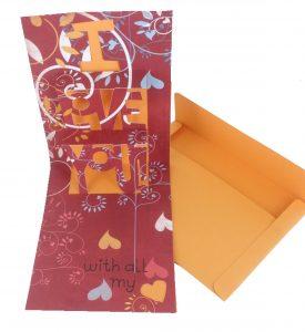 I love You Simple Pop-Up Cards Cricut Cartridge