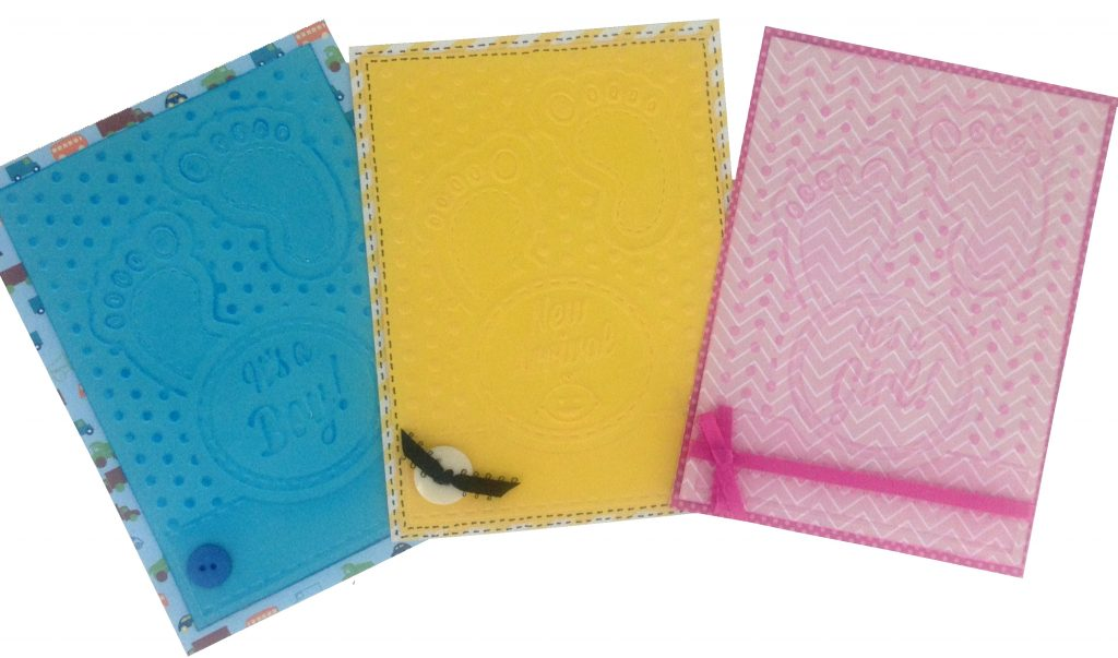 CGull Interchangeable embossing folders baby project