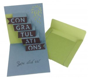 Congrats Simple Pop-Up Cards Cricut Cartridge
