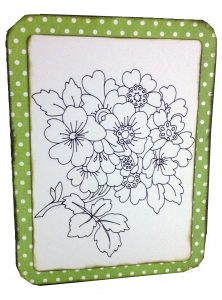 Anna Griffin Flower Card before filling in colors