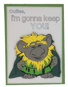 Pabbie card from Cricut Frozen Cricut cartridge