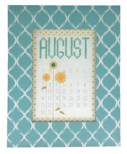 august calendar made with crafternoon cross stitch calendar