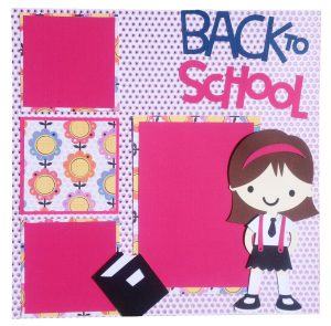 girly Create a Friend school days scrapbook layout