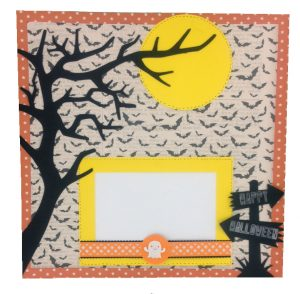 halloween page 2 layout made with creepy critter cartridge