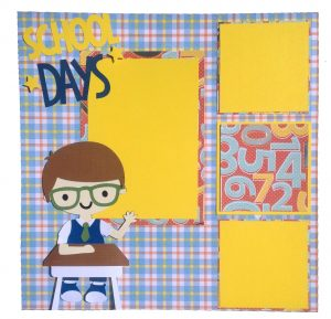 Back to school scrapbook layout made using Create A Friend