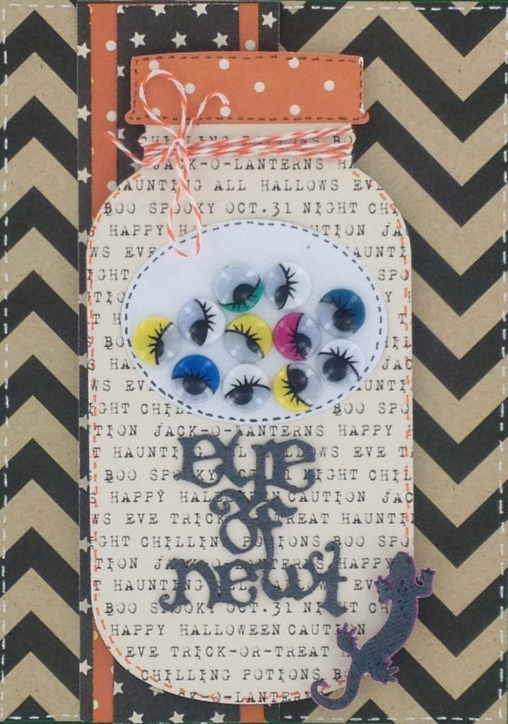 Eye of Newt Halloween Cricut Card